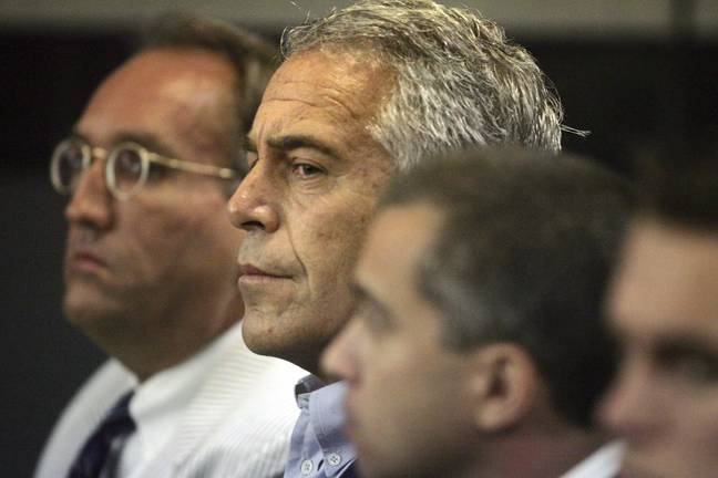 Jeffrey Epstein in court (PA Images)