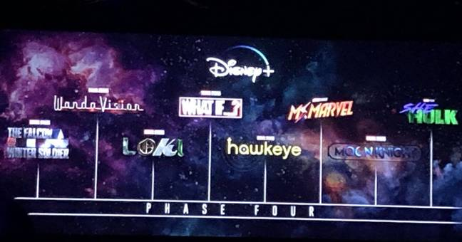 New MCU phase four 4 TV shows  announced for Disney+