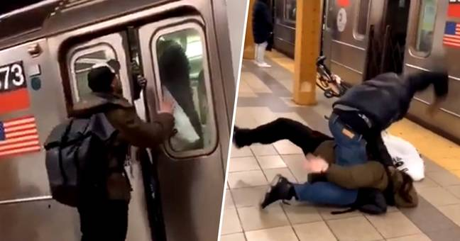 Man Quickly Finds Out He Spat In The Wrong Subway Passenger's Face