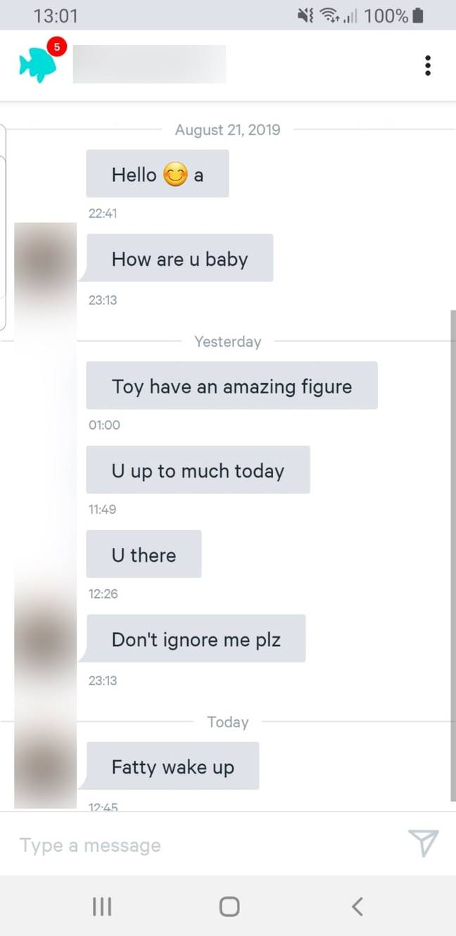 Woman shares fat shaming messages