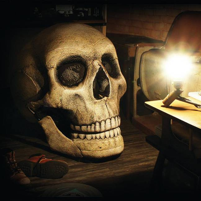 Giant skull chair is perfect for halloween