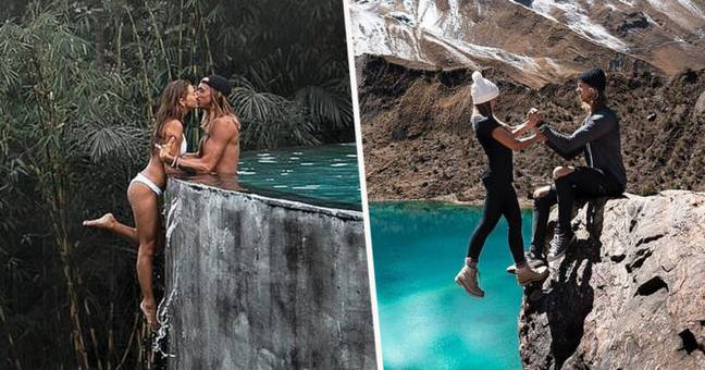 Peru Laguna Humantay Travel Bloggers Guy In Insta Couple Slammed For 'Always Putting His Girlfriend's Life At Risk'