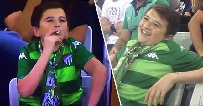 Viewers Freaked Out By 'Child Caught Smoking' at a football match, Turns Out To Be 36-Year-Old Man