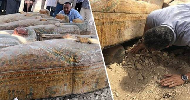 Egypt Coffins Archaeologists