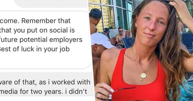 Company uses woman's bikini pictures to call her unprofessional