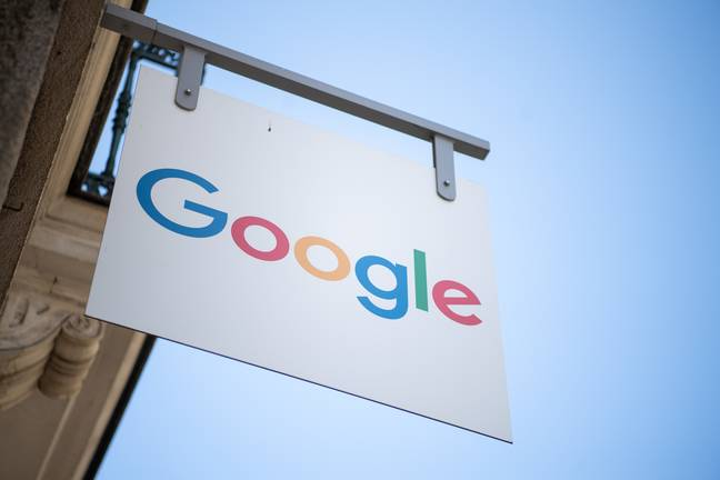 Google sign (PA Images)