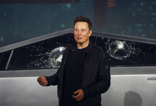 Elon Musk Cybertruck Shattered Windows