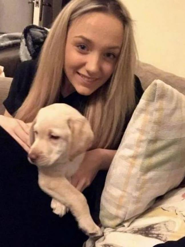 Woman whose dog helps with seizures pictured with dog as a puppy