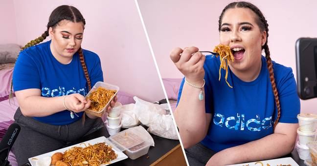 Woman Quits Job To Make Videos Of Her Eating Takeaway For Living