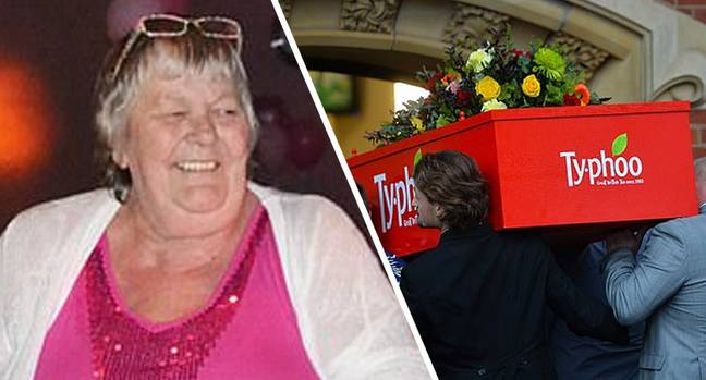 Mum Who Drank 40 Cuppas A Day Buried In Giant Box Of Tea Bags