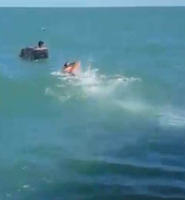Rescue mission to save fishermen from floating fridge