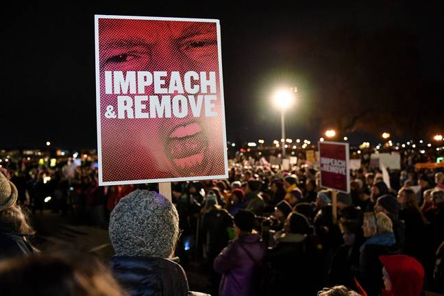 Impeachment Protest Donald Trump