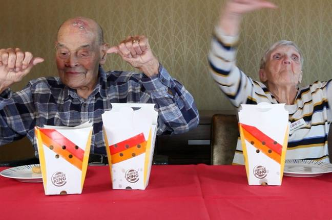 Pensioners Try Fast Food