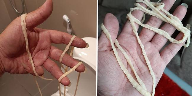 Man Left Horrified After Pulling Giant Moving Tape Worm Out Of His Bum