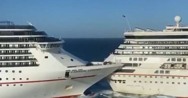 Two Cruise Ships Filmed Crashing Into Each Other In Mexico