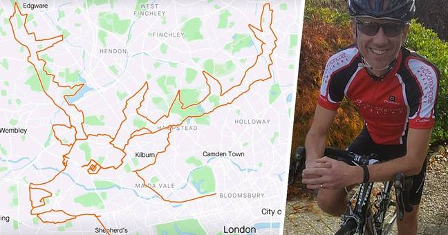 Cyclist Spends Nine Hours Creating Giant Reindeer On Fitness App