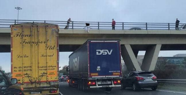 Hero Truck Driver Stopped Underneath Bridge To Save Girl Who Was 'Going To Jump'