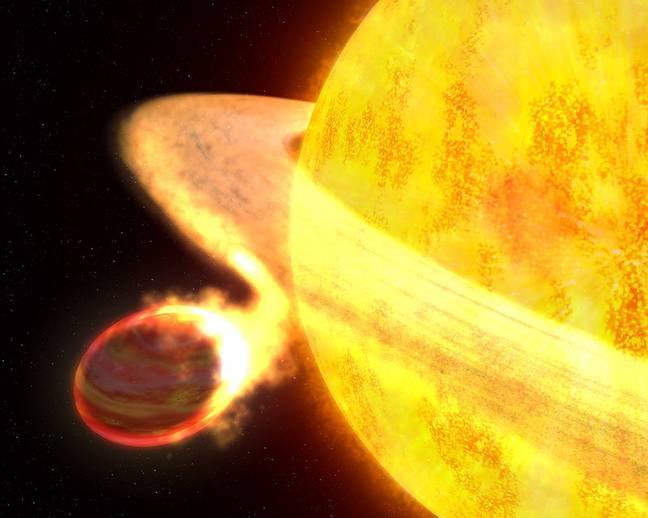Star being devoured by another star