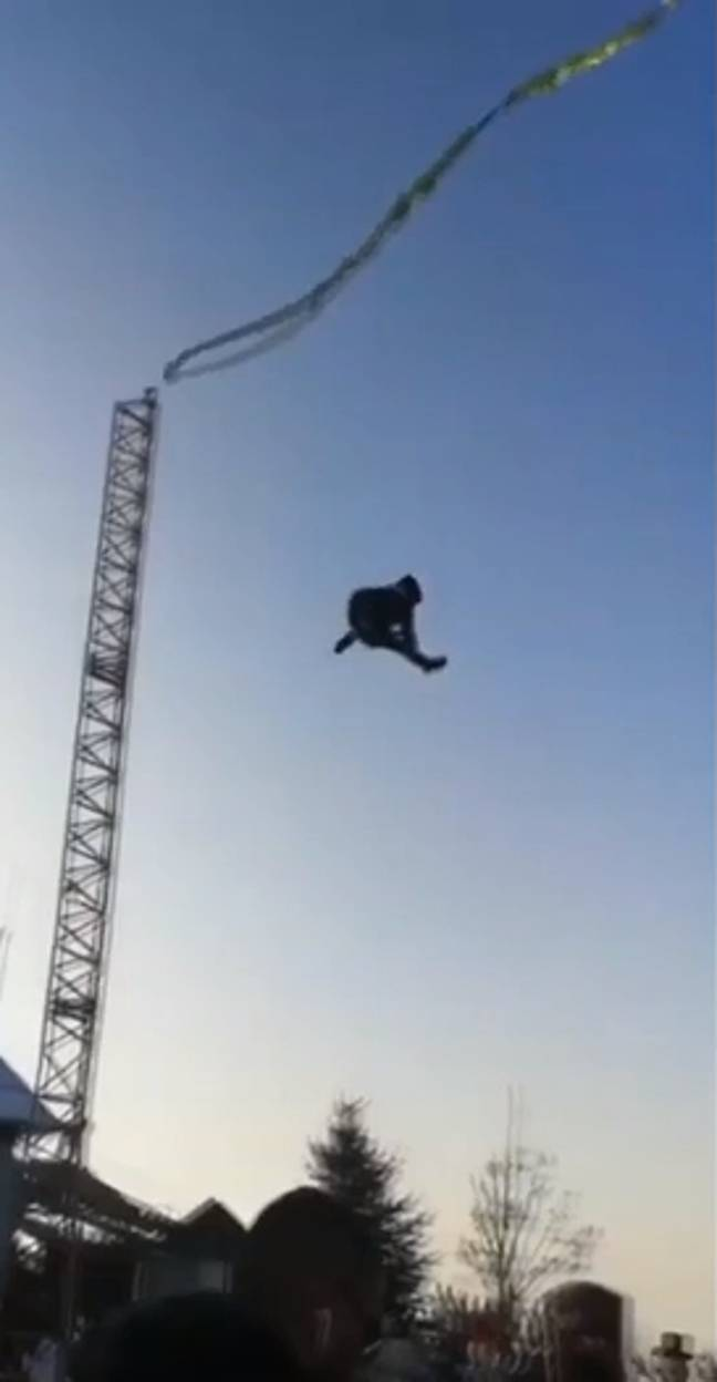 Bungee Ride Goes Wrong 3