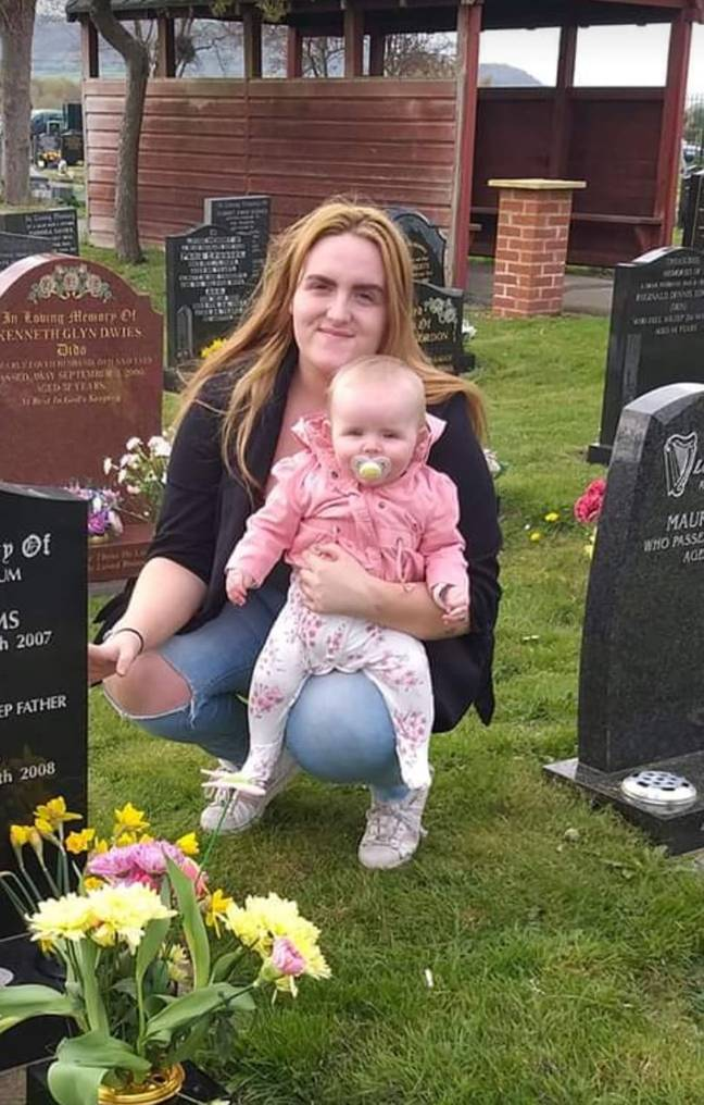 Mum sees daughter talking to ghost