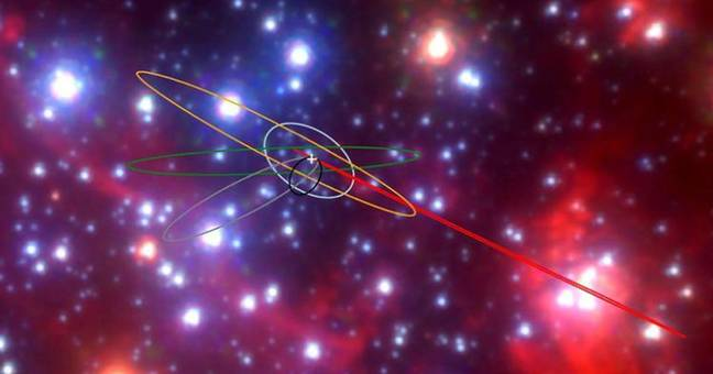 Strange Objects Found Near Supermassive Black Hole That's Eating Everything