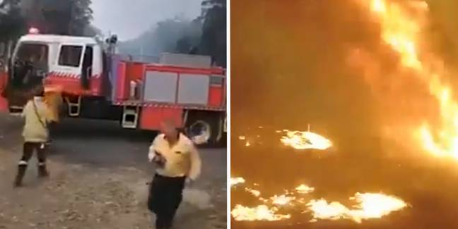 Firefighters' Footage Shows How Bushfires Can Overrun Area In Minutes