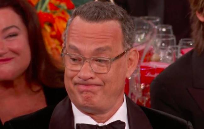 Tom Hanks' reaction to Ricky Gervais at Golden Globes