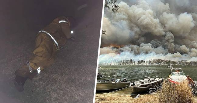 Firefighter Sleeps On Lawn After Tenth 12-Hour Day In A Row Battling Bushfires