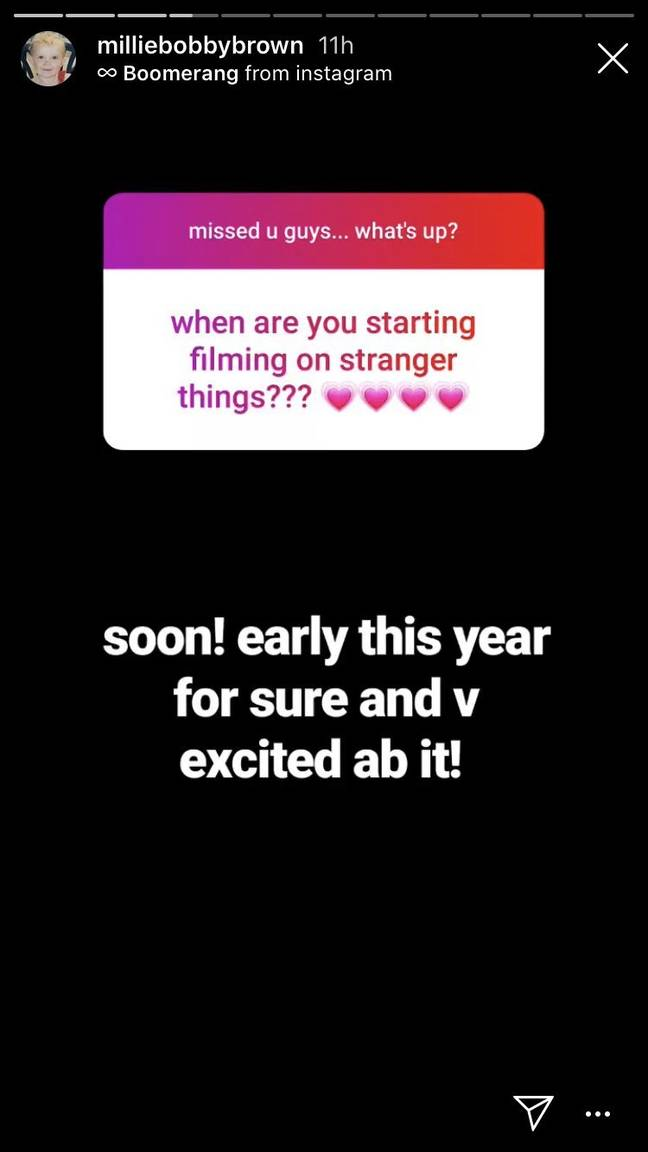 Milly Bobby Brown Confirms Stranger Things Starts Shooting Very Soon