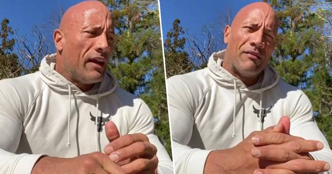 The Rock Holds Back Tears As He Reveals He Didn't Get To Say Goodbye To His Dad