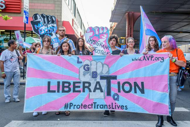 trans rights march