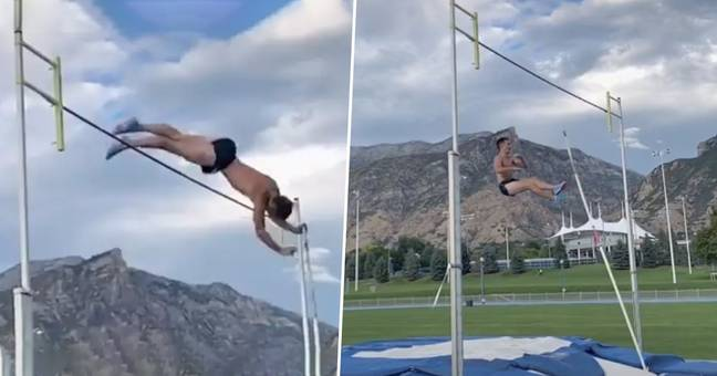 Brigham Young University Athlete Rips His Testicles As He Attempts Pole Vault On TikTok