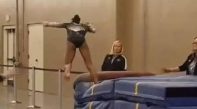 Quick-Thinking Coach Saves Gymnast From Nasty Injury After Noticing Tiny Mistake