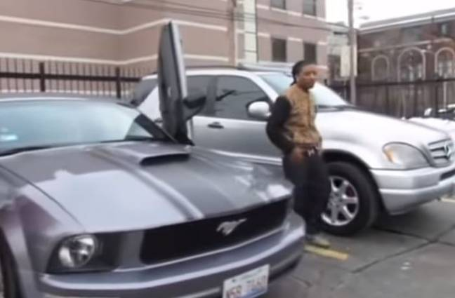 Mustang belonging to rapper who hired hitman to kill mum