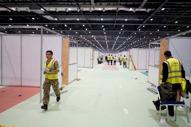 Inside London's ExCel Centre As It's Transformed Into Hospital For 4000 Patients