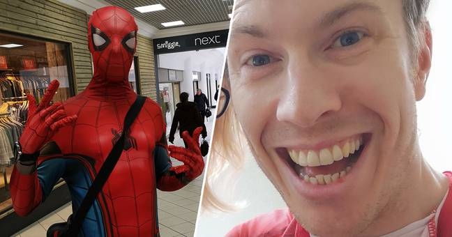 Real-Life Friendly Neighbourhood Spider-Man Goes Shopping For Isolated People