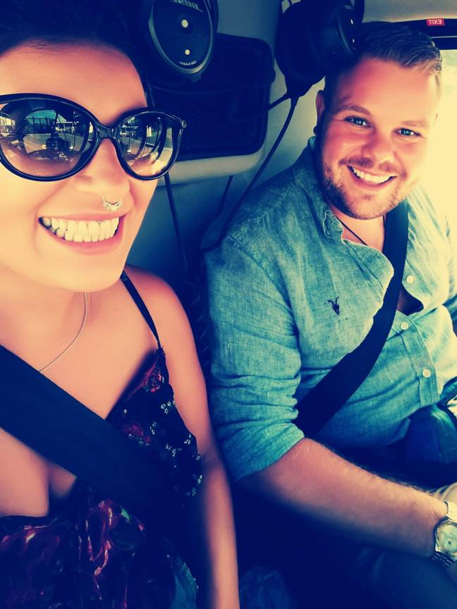 Harrison Kingshott with wife to be Tina