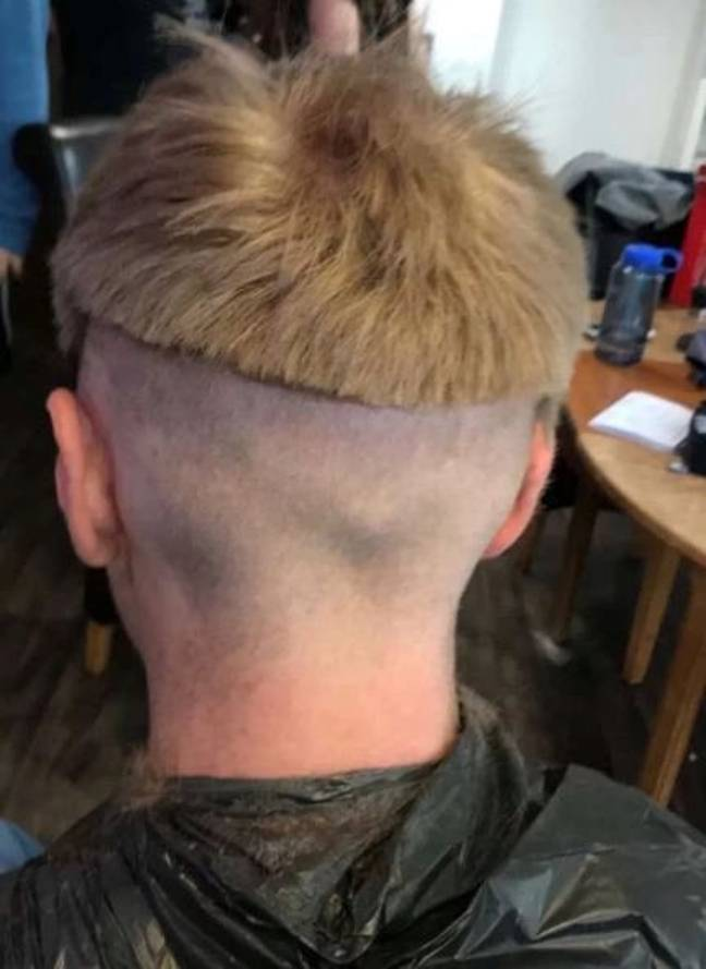 Man left with bad bowl cut after home haircut