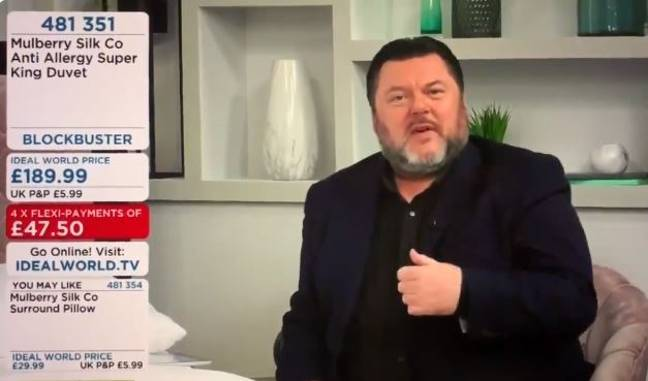 Guy Selling Duvets On Shopping Channel Sounds Exactly Like David Brent