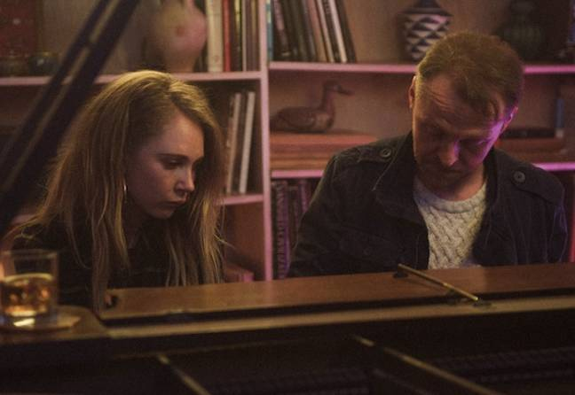 Juno Temple and Simon Pegg in Lost Transmissions