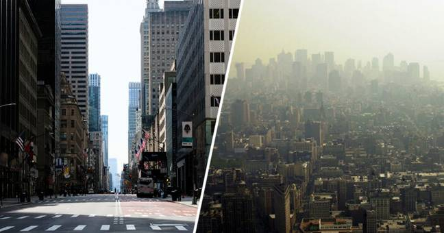 Air Pollution Plunges Nearly 50% In New York As People Self-Isolate