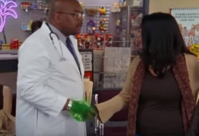 Infection spreading in scene from Scrubs