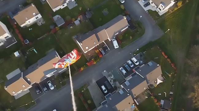 Guy Uses Drone To Get His Favourite Snack During Isolation