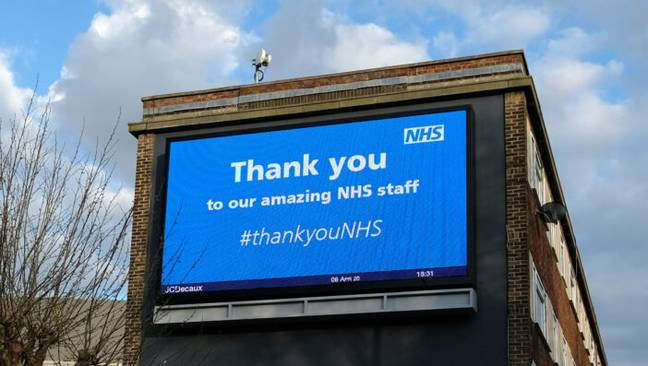 Sign thanking NHS staff