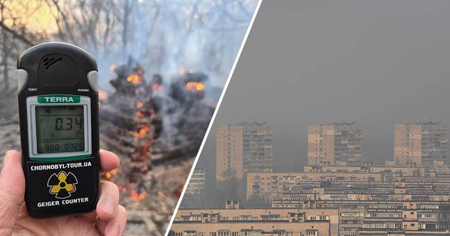 Fires Blazing Dangerously Close To Chernobyl Blanket Ukranian Capital In Smog