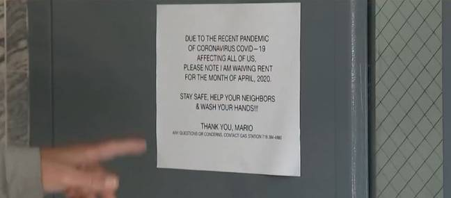landlord waives rent