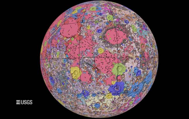 new map of the moon