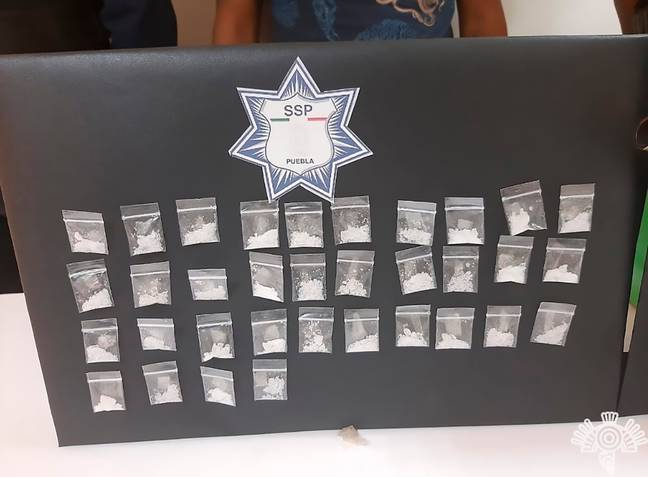 Drugs seized by Mexican police