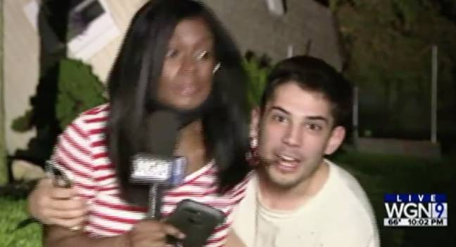 woman grabbed live on air