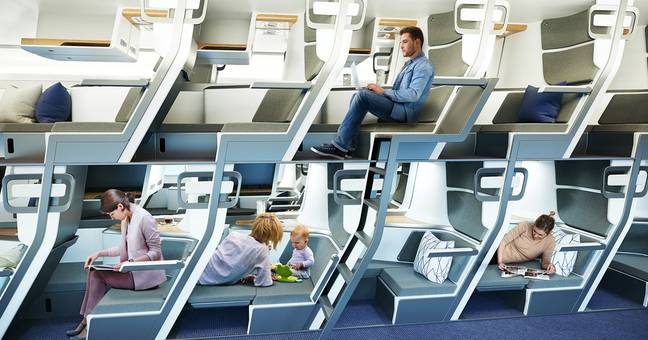 Double-Decker Seats On Planes May Be The Future Of Economy Flights